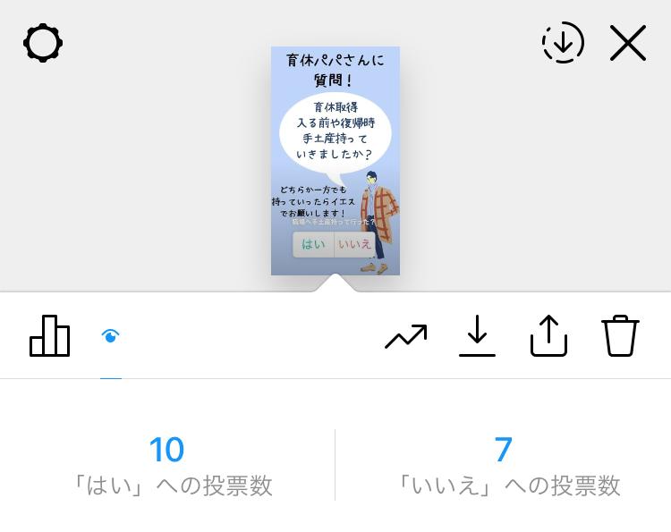 男性育休 お菓子 アンケート結果 Instagram